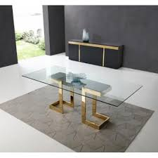 Sumo Rectangle Dining Table, 12Mm Clear Tempered Glass Top ...