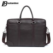 BOSTANTEN <b>Cow Genuine Leather</b> bag <b>Business</b> Men bags Laptop ...