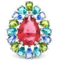 31x25mm New Designed Pear Shape Raspberry Rhodolite Garnet ...
