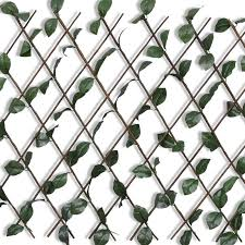<b>Willow Trellis Fence 5</b> pcs with Artificial Leaves 180x90 cm -