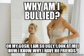 Bullying | Why am I bullied? oh my gosh, I am so ugly. look at me ... via Relatably.com