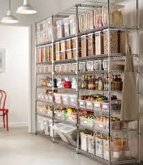photos kitchen cabinet organization: metal shelving units are perfect to organize your food supplies