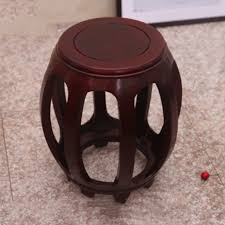 Home Office Furniture Stools <b>Solid</b> Wood <b>Drum Stool</b> Antique Zither ...