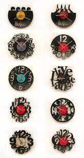 relojes corte lser sobre discos de vinlo laser cutting vinyl disc wall clocks blank wall clock frei