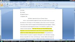 Mla Format With Sample Citations  Purdue Owl APA Style Blog