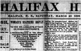 nova scotia women suffrage and beyond chesley in the halifax herald
