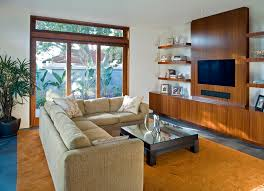 modern wall units family room modern with area rug bookshelves ceiling accent lighting family room