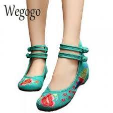 <b>Wegogo</b> Vintage <b>Women Flats</b> Old Peking <b>Shoes</b> Chinese Flower ...