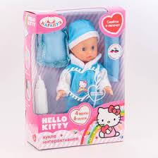 <b>Пупс Hello Kitty</b> звуковые функции , аксессуары 18 см, цвета МИКС