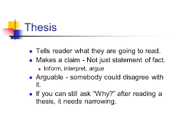 narrative essay personal story revealing something important in  thesis tells reader what they are going to read makes a claim   not just