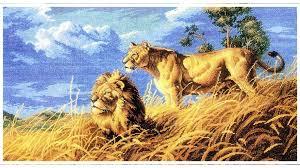 <b>Вышивка 14ст</b>,<b>16ст Белоснежка 1565-14</b> Цари саванны купить в ...