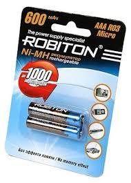 <b>Аккумулятор</b> Ni-Mh 600 мА·ч <b>ROBITON AAA</b> R03 Micro 600 ...