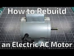How to Rebuild an <b>Electric AC</b> Motor - YouTube