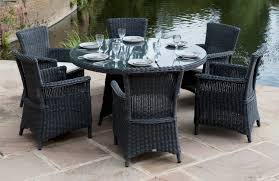 black wicker dining chairs  outdoor wicker dining table and chairs