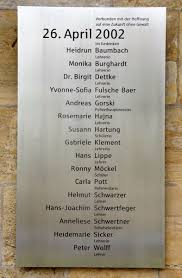 「2002, Erfurt massacre」の画像検索結果
