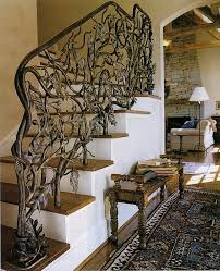 oak leaf and acorn stair railing by john boyd smith metal studios at custommadecom beautiful custom interior stairways