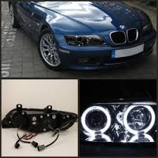 bmw z3 1996 2002 smoked dual halo projector headlights bmw z3 1996 2002