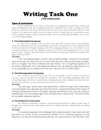 how to write an conclusion to an essay