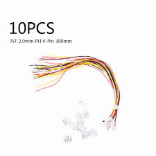 <b>10 SETS Mini Micro JST</b> 2.0 PH 4 Pin Connector plug with Wires ...
