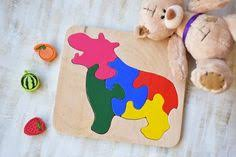 Unicorn <b>Baby wooden</b> toy puzzle Gift for girls <b>Montessori</b> Toy ...