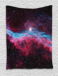 Ambesonne Pink Tapestry, Science Cosmos Outer ... - Amazon.com