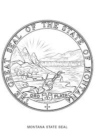 Small Picture Montana State Seal coloring page Free Printable Coloring Pages