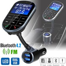 <b>Bluetooth V4</b>.<b>2</b> FM Transmitter for <b>Car</b>, <b>Wireless Bluetooth</b> FM Radio ...