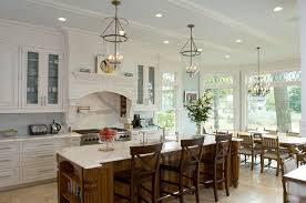 this kitchen offers plenty of natural light always a must for any kitchen one of my favorite things here the bell jar style lighting fixtures above the bell jar lighting fixtures