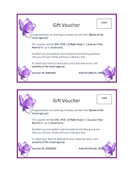 appealing sample of holiday gift voucher for travel agent company it