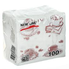 <b>Салфетки</b> бумажные <b>New Line</b> Чашка кофе 100 шт, 24х24 см в ...