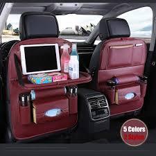 <b>Carbon Fiber Leather Car</b> Seat Back Organizer Bag Multifunction ...