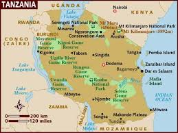 Image result for maps of tanzania