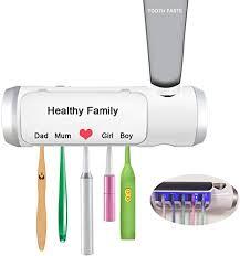 Aquatrend UVLED Toothbrush Sterilization Rack Toothpaste Holder ...