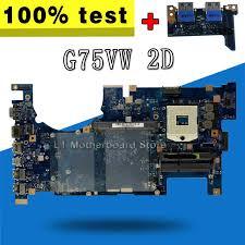 <b>send board</b>+G75VW Motherboard <b>2D</b> Connector PGA 989 For ...