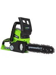 Цепная пила аккумуляторная <b>GreenWorks</b> G24CS25K2, 24V, 25см ...