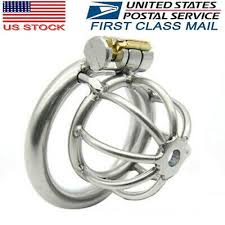 Small Short <b>304</b> Stainless Steel <b>Male Chastity Device</b> Cage Ring ...