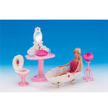 free shipping 4 items bathroom set miniature dollhouse furniture for barbie doll best gift toy for barbie dollhouse furniture cheap