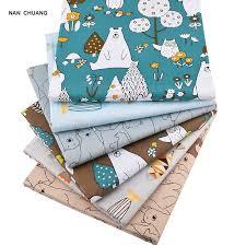 <b>Nanchuang</b> 6Pcs/Lot Bear&Fishes Twill Patchwork <b>cotton</b> Fabric For ...
