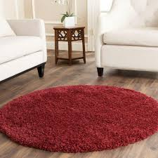 california shag maroon 4 ft x 4 ft round area rug california shag black 4 ft