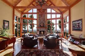 Chalet House Plans   Coeur D    Alene     Associated DesignsHouse Plan Photo   Coeur D    Alene     Living Room