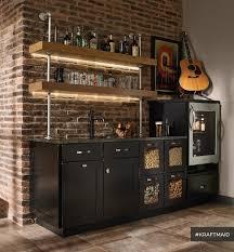 home bar lighting. kraftmaid cherry kitchen bar area with led lighting rustichomebar home 2