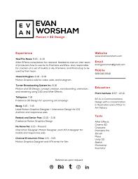 resume evan worsham résumé
