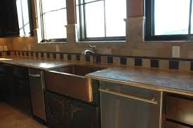 hammered copper kitchen sink: austin faux finishers custom tile countertop apron sink copper sink uamp copper