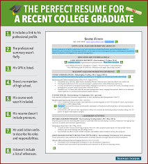 good resume examples for college students sendletters info reasons this is an excellent resume for a recent college graduate