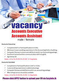accounts assistant eazyjobs accounts assistant apply now job description