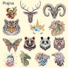 Prajna Rose <b>Horse Beauty</b> Iron On <b>Patches</b> Zebra Flower Animal ...