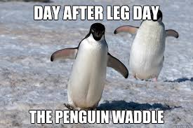 day after leg day meme | Man Bicep via Relatably.com