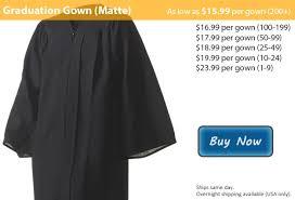 <b>Matte Black</b> Graduation <b>Gown</b> from Honors Graduation