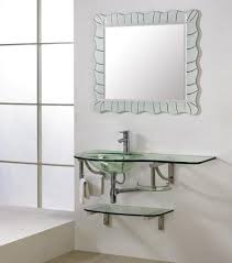 bathroom tempered glass shelf: dreamline dlvg  modern bathroom glass vanity set   inch tempered glass countertop with integrated sink two lower glass shelf stainless steel wall
