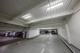 thinklite led makes the one post office square garage brighter and safer breezeway garage office